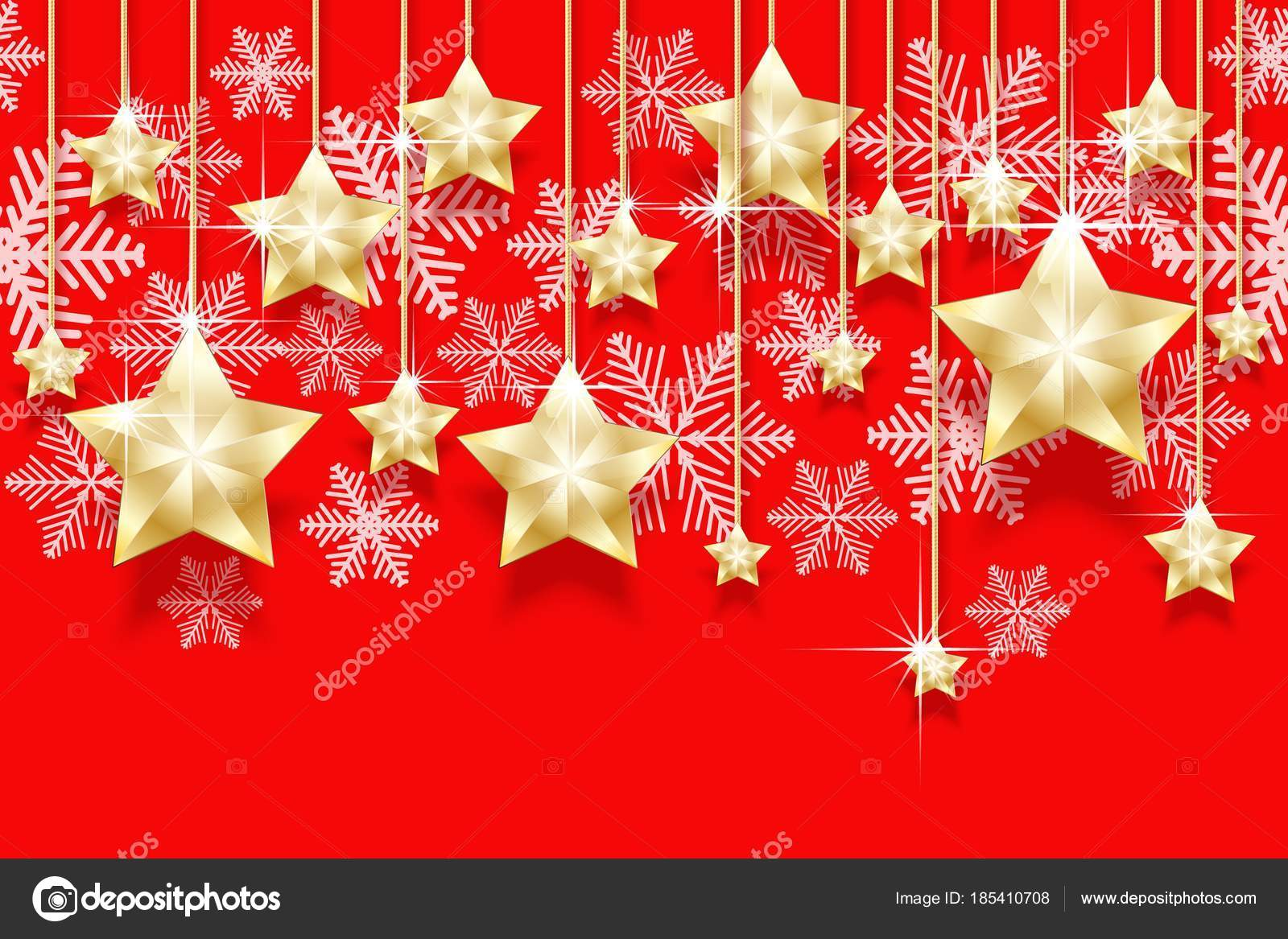 christmas seamless horizontal pattern with hanging gold stars and snowflakes bright new years border for design vector illustration vector by iricat