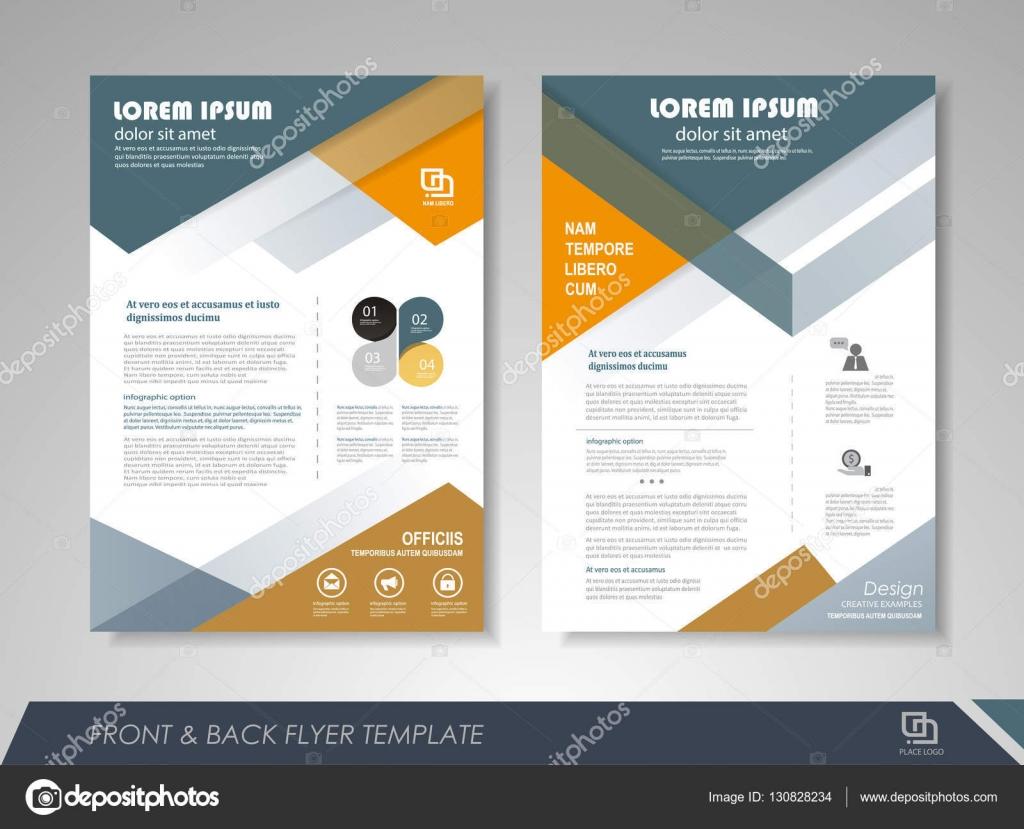 presentation flyer design stock vector