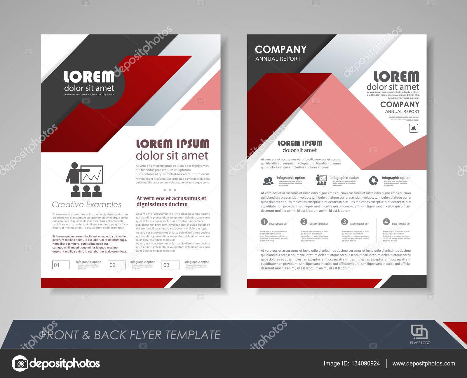 plantilla de diseño de diseño de folleto — Vector de stock ...