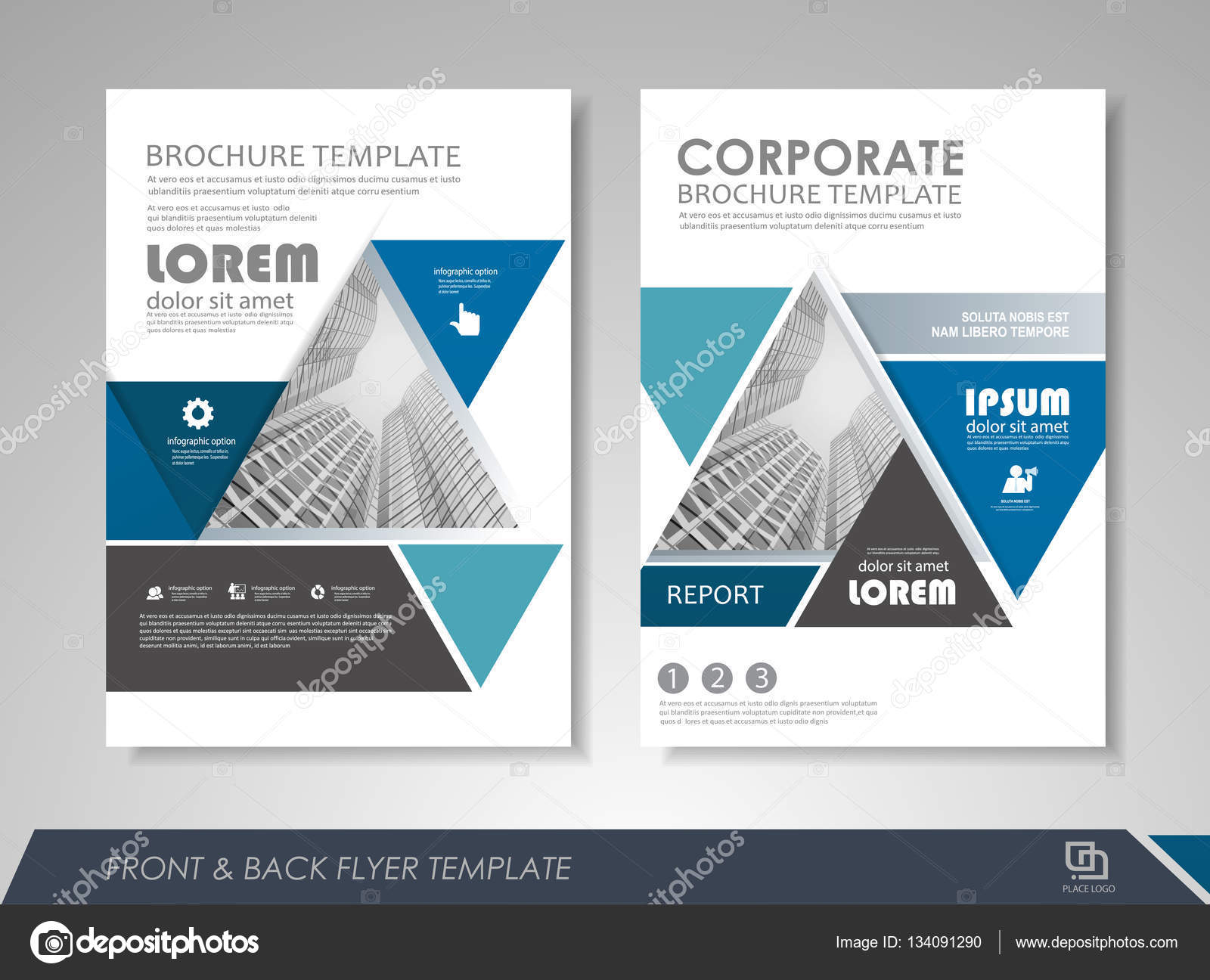 Business poster template stock vector stekloduv 134091290 blue annual report brochure flyer design template leaflet cover presentation abstract background for business magazines posters booklets banners wajeb Choice Image