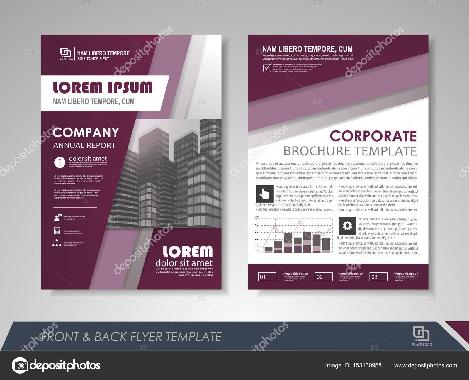 Plantilla de presentación Resumen folleto flyer — Archivo Imágenes ...