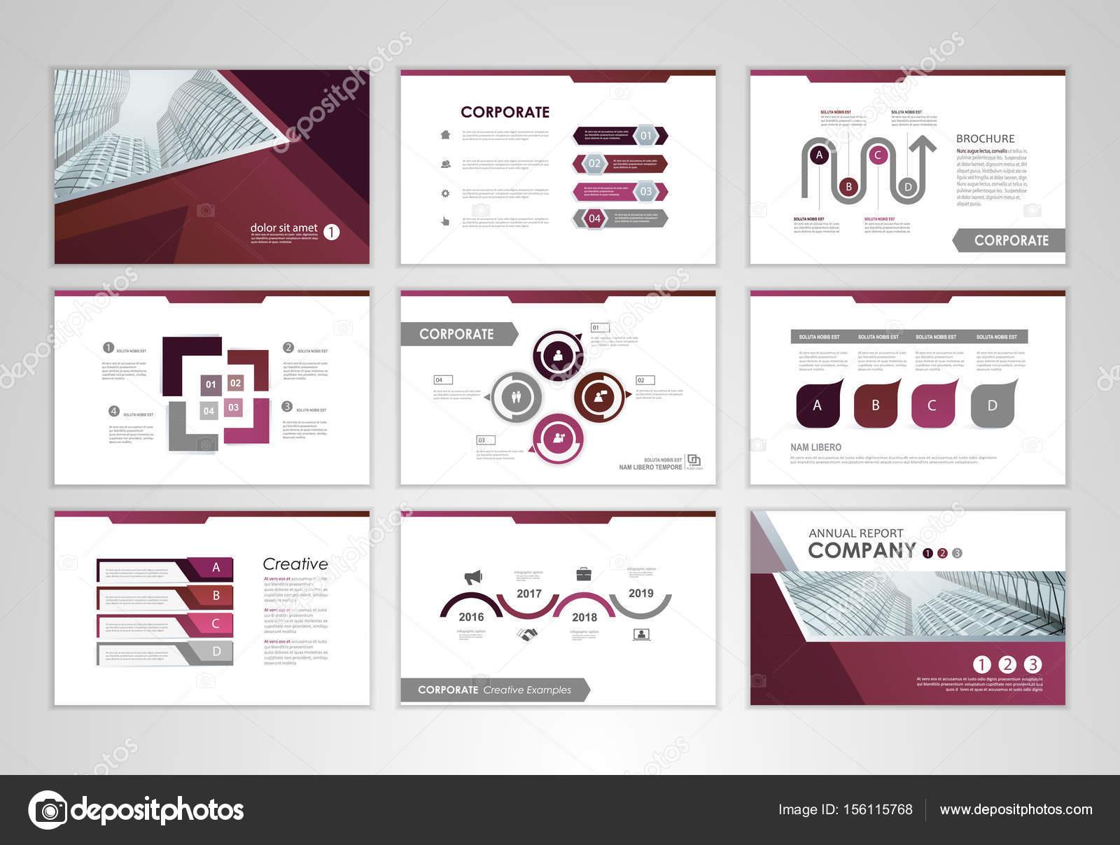 infographic brochure elements stock vector stekloduv 156115768