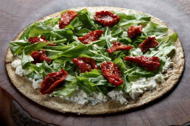 Whole wheat flour pizza