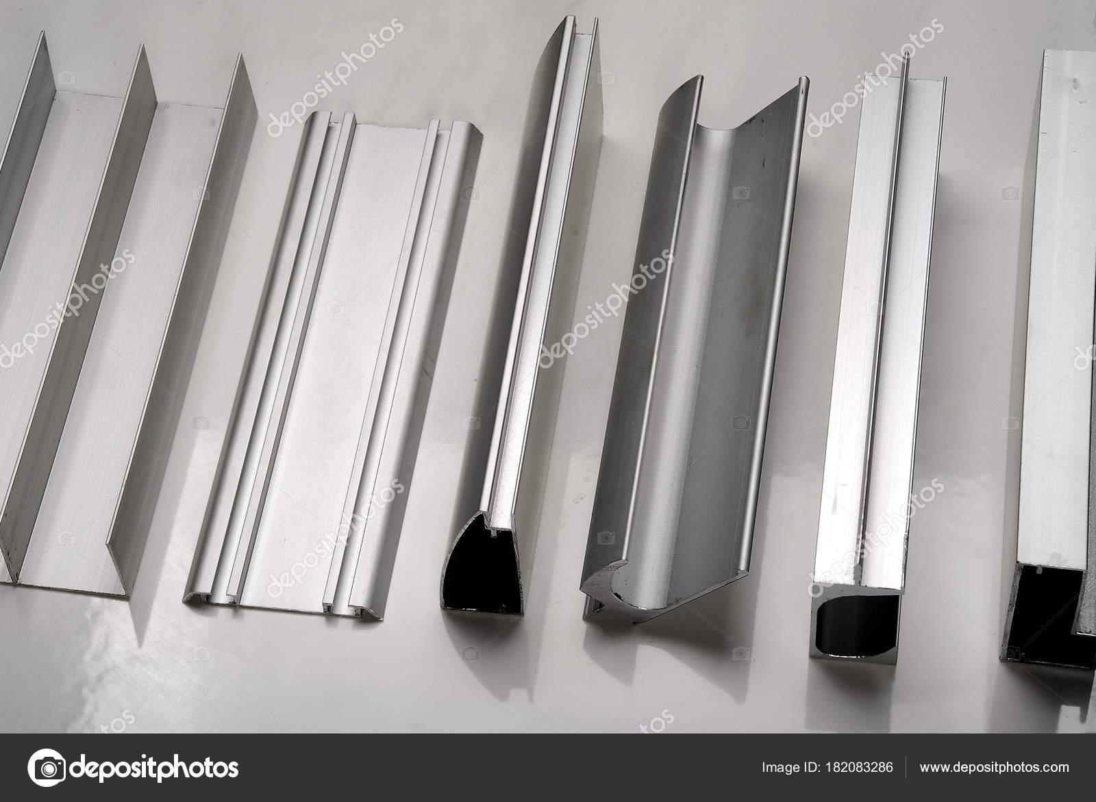Aluminum Profile Windows Doors Bathroom Boxes — Stock Photo