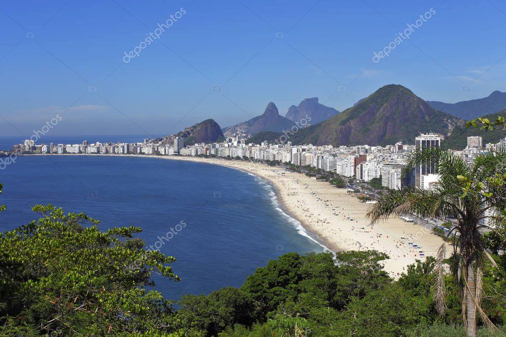 View of the beach of Rio de Janeiro