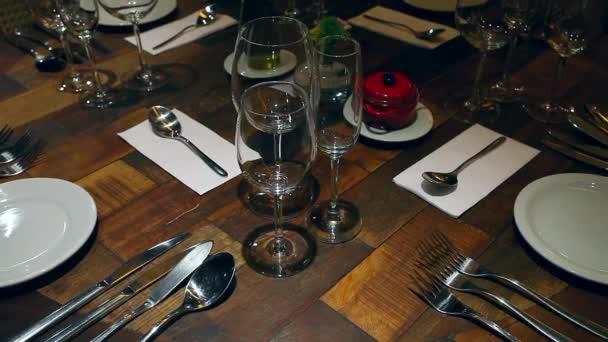 Close View Restaurant Table Setting u2014 Stock Video & Close View Restaurant Table Setting u2014 Stock Video © rocharibeiro ...