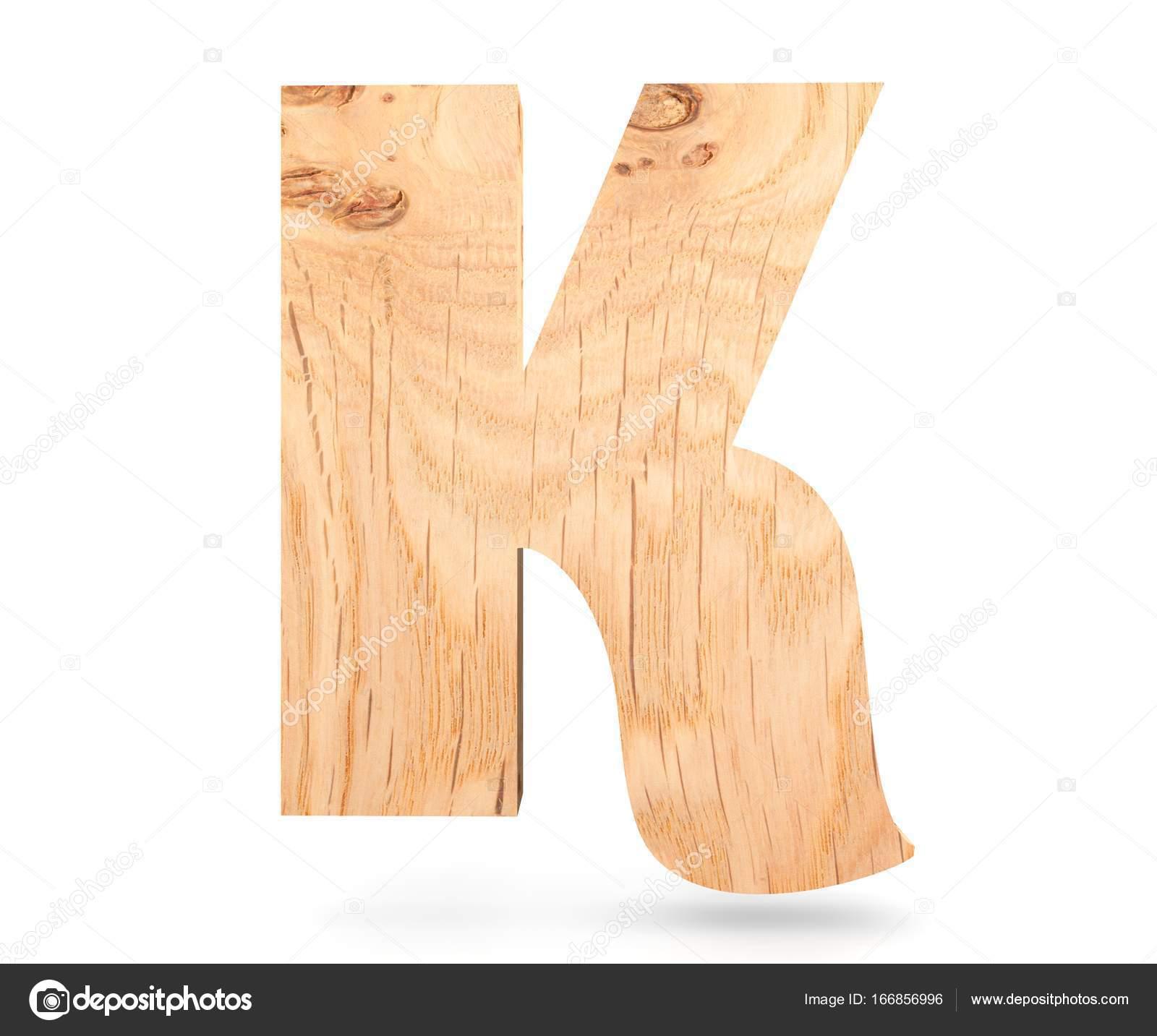 3d Dekoracyjne Drewniane Alfabet Litery K Zdjęcie