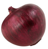 one bulb red onion isolated on white background clipping path