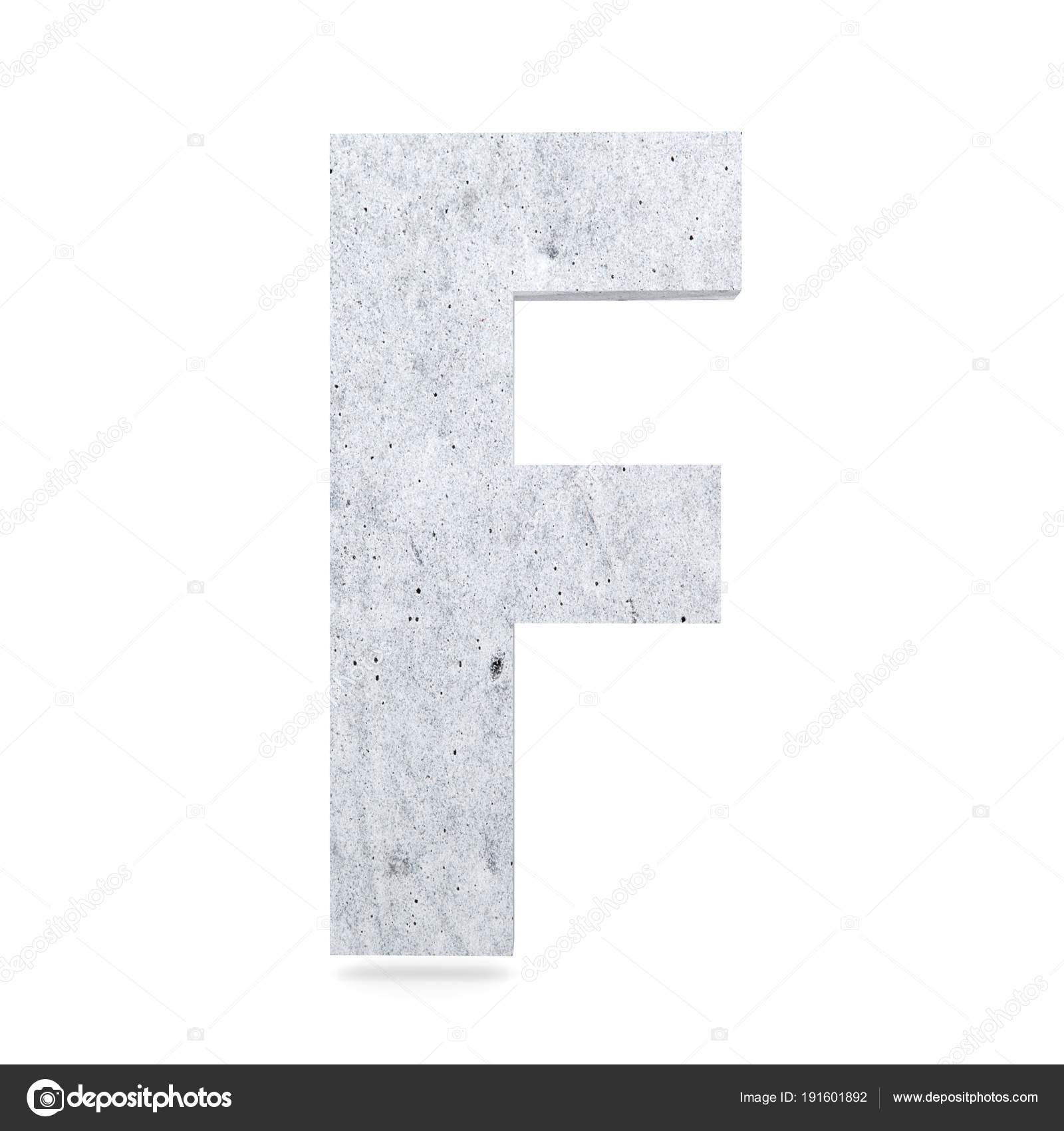 3d Dekoracyjne Betonowe Alfabet Litery F Zdjęcie Stockowe