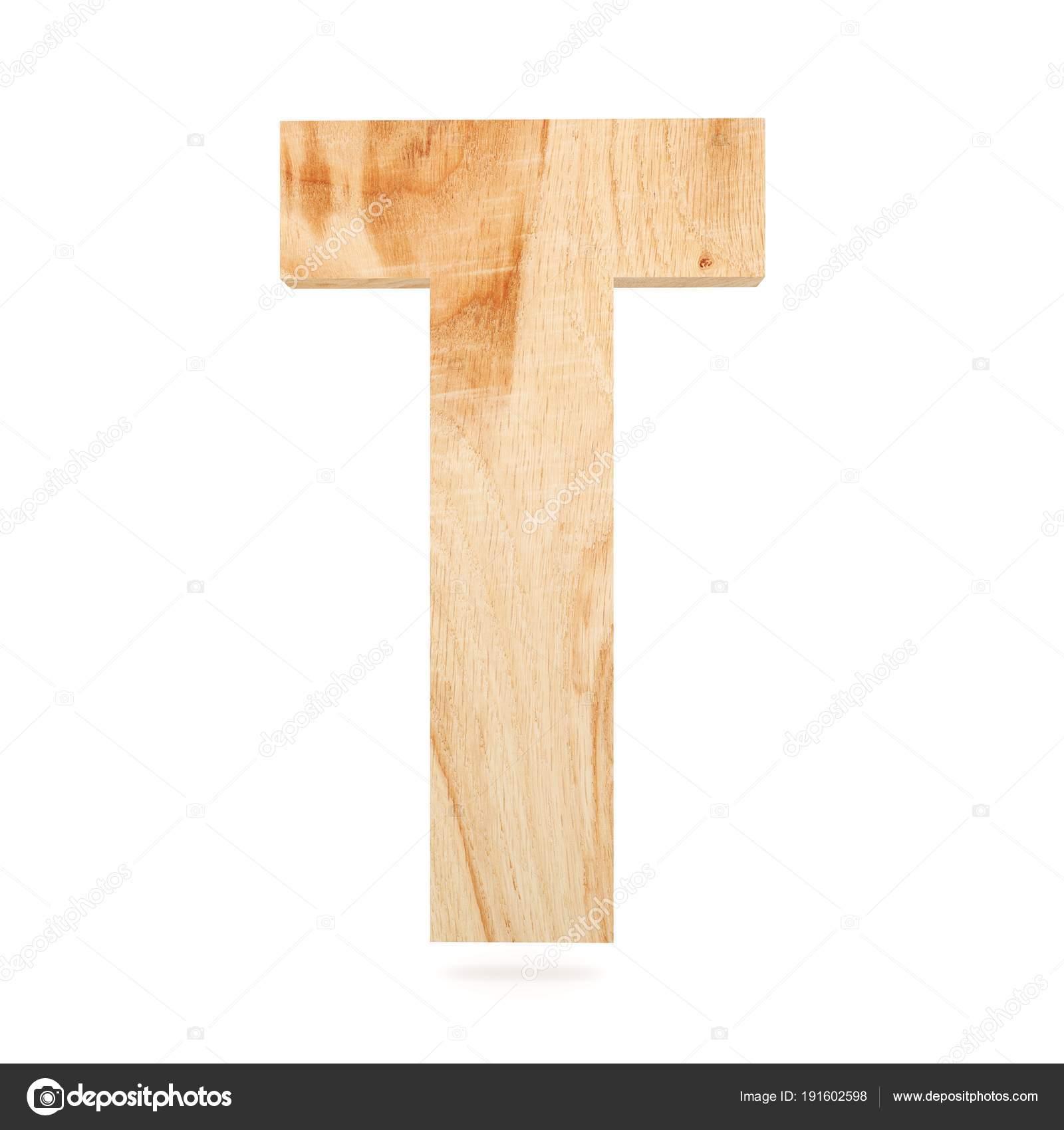3d Dekoracyjne Drewniane Alfabet Litery T Zdjęcie