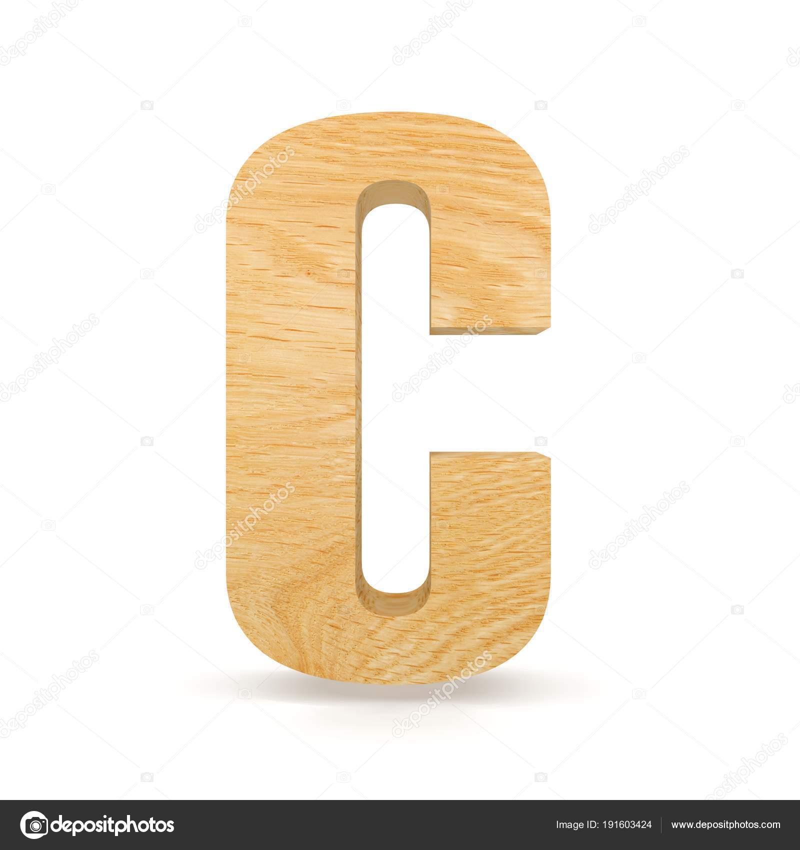 3d Dekoracyjne Drewniane Alfabet Litery C Zdjęcie