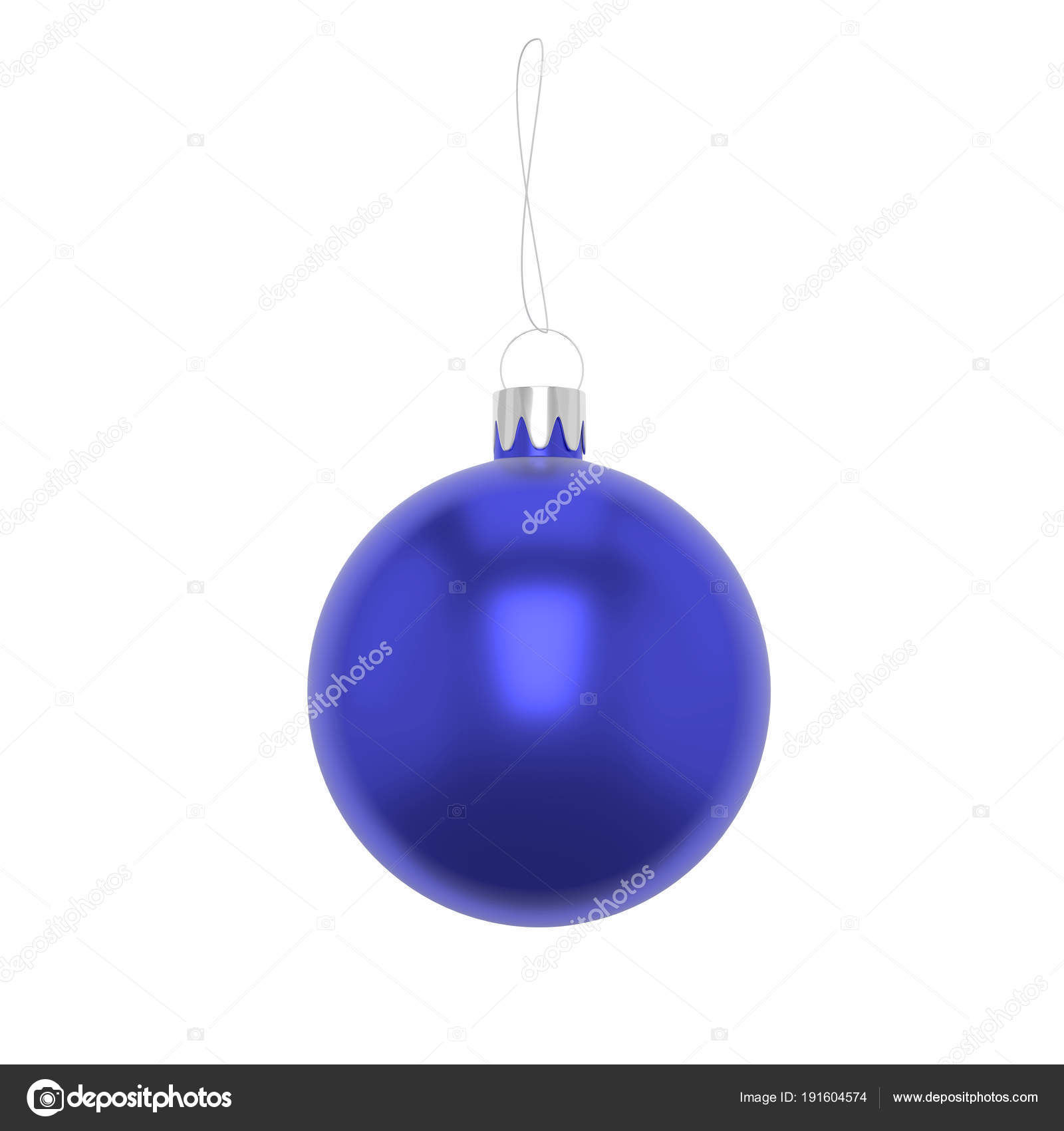 Boule De Noel Ficelle.Boule De Noël Bleu Illustration De 3d Avec De La Ficelle