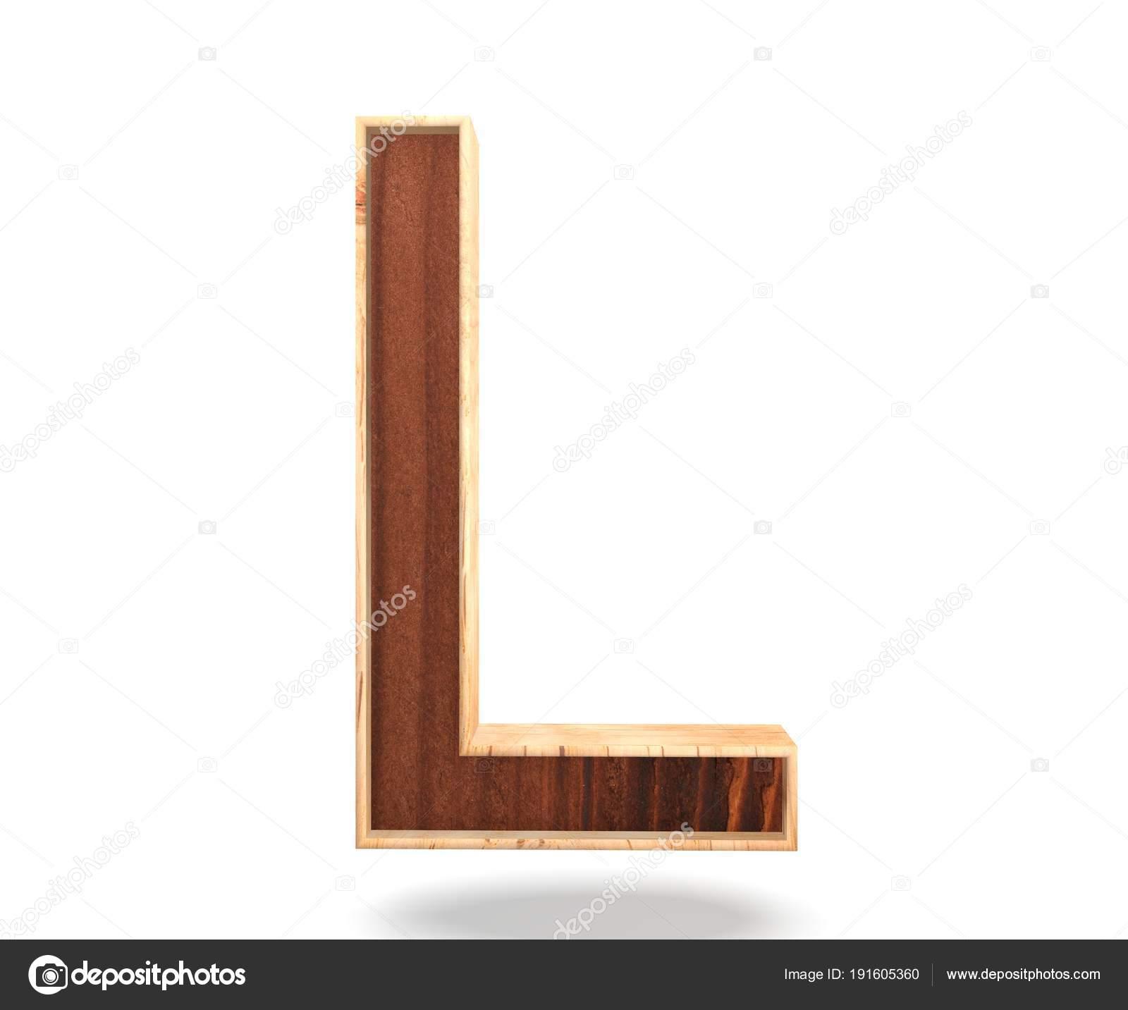 3d Dekoracyjne Drewniane Alfabet Litery L Zdjęcie