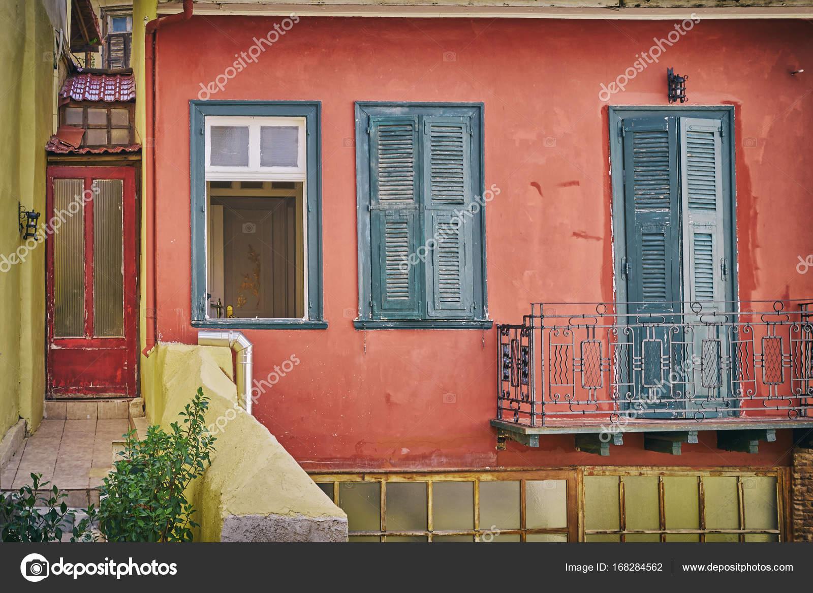 Grecia isla de Hydra la fachada de la casa vintage Foto de stock