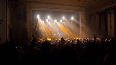Ukrainian pop band Skryabin at Andriy Kuzmenko tribute concert, concert hall Budynok ofitseriv, Vinnytsia, Ukraine, 10.06.2016, editorial photo