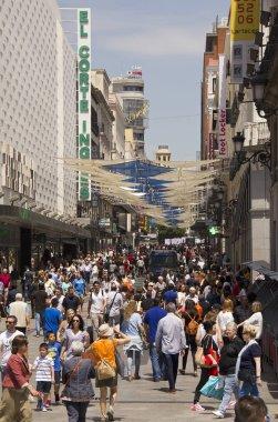 People shopping in Madrid, Spain