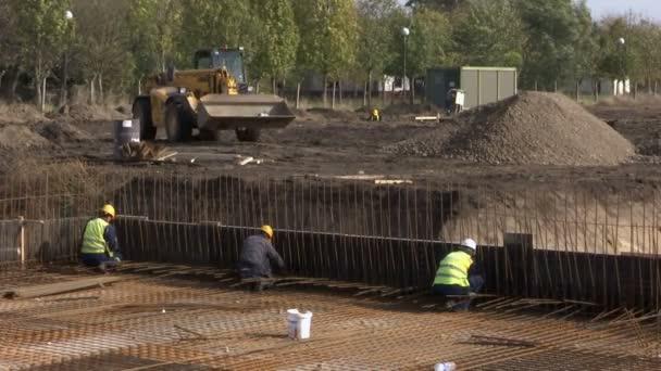 Stavební práce na základě továrna