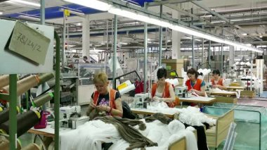 Workers in the textile industry