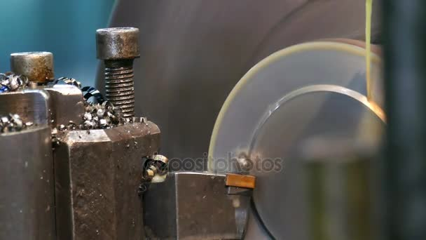 Metalworking Lathe / Processing of metal parts on the lathe machine