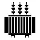 Fotografie Hochspannung Transformator schwarzes symbol