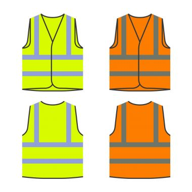 reflective safety vest yellow orange