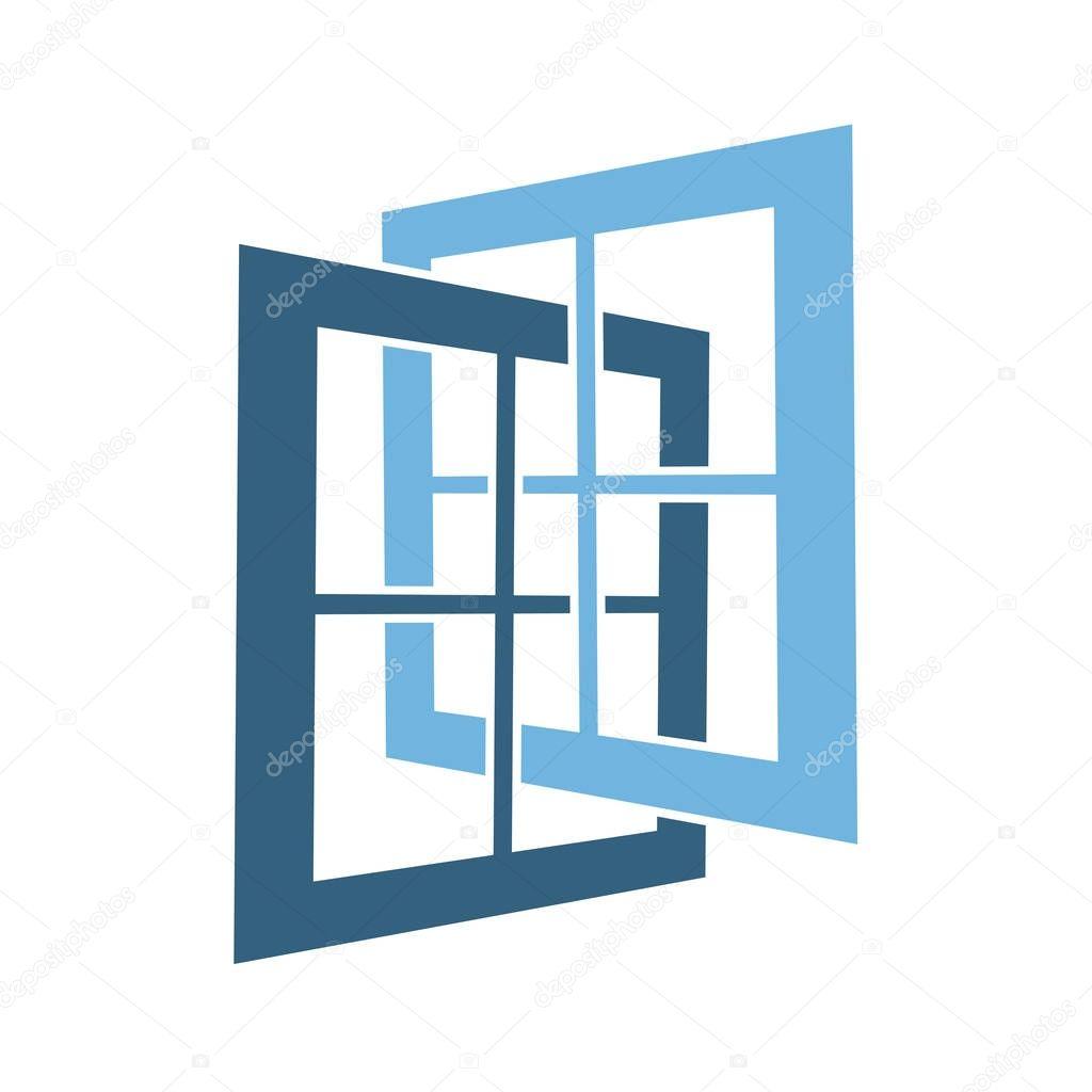 symbole simple r u00e9sum u00e9 fen u00eatre ouverte  u2014 image vectorielle happyroman  u00a9  171613562