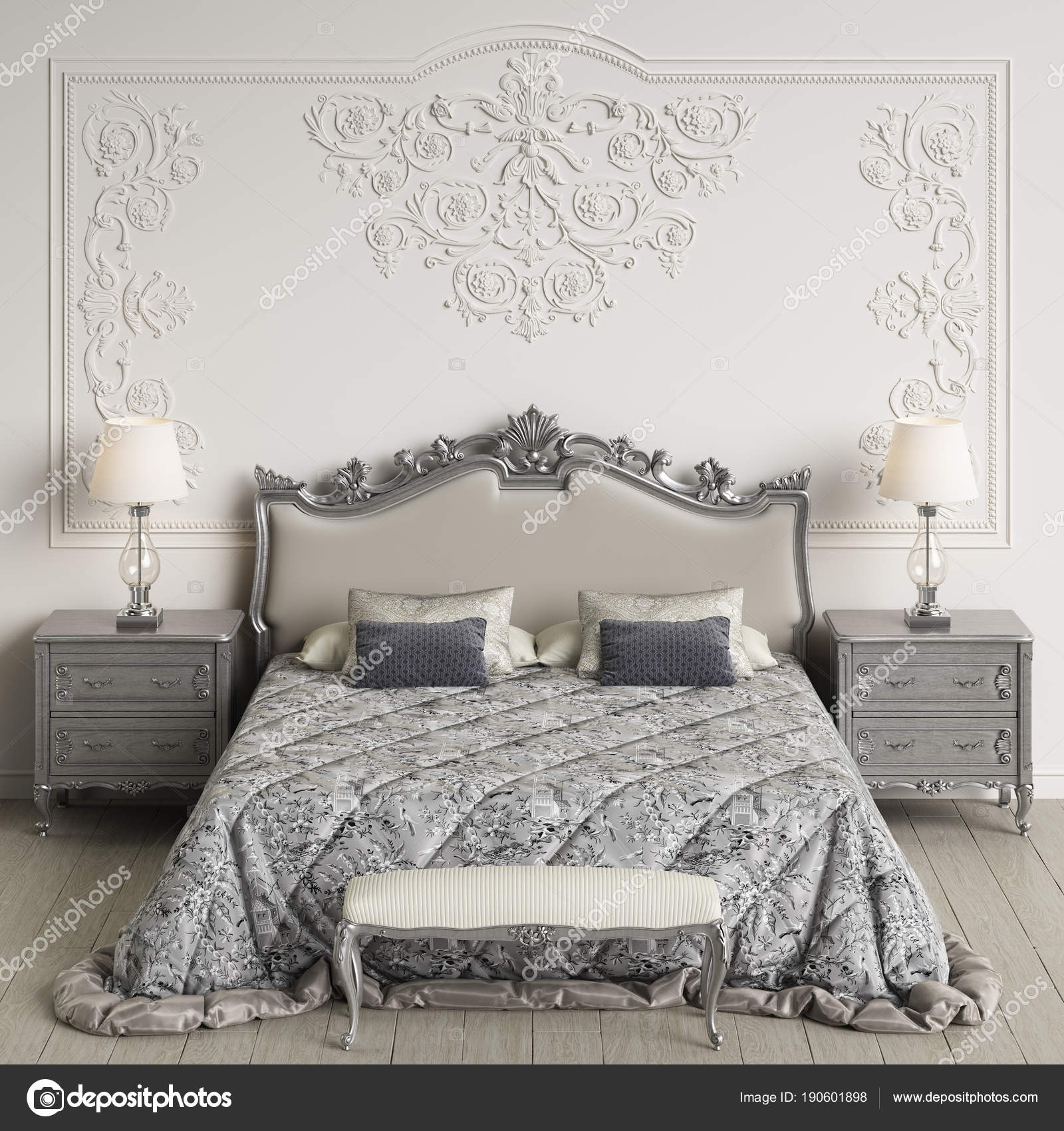 Meubles Chambre Coucher Classique Intérieur Classique Murs Avec ...