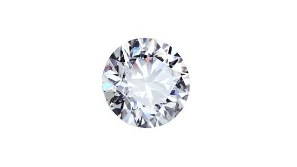 Přírodní velký kulatý diamant na černém pozadíUnikátní extrémní zblízka natáčení. Záběry jsou vytvořeny z hrubé posloupnosti a mohou být změněny pro jakékoliv technické požadavky.