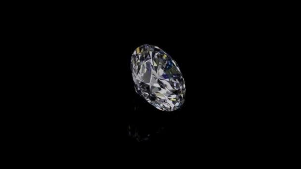 Természetes nagy kerek gyémánt fekete hátterenEgyedülálló extrém közeli lövés. A felvétel nyers szekvenciából készült, és bármilyen műszaki követelménynek megfelelően módosítható..