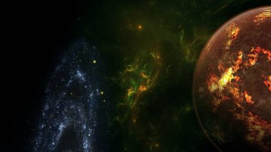 black hole, planets and galaxy. Science fiction wallpaper. Astronomy is the scientific study of the universe stars, planets, galaxies