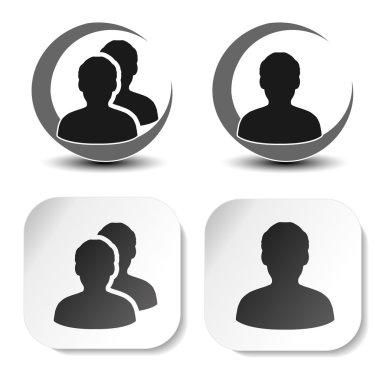 user and community black symbols