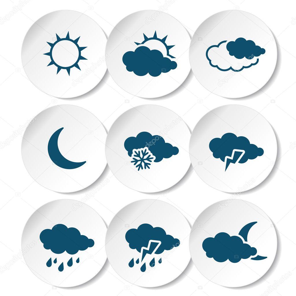 set of weather symbols