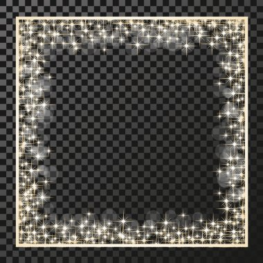 rectangle frame with golden stars