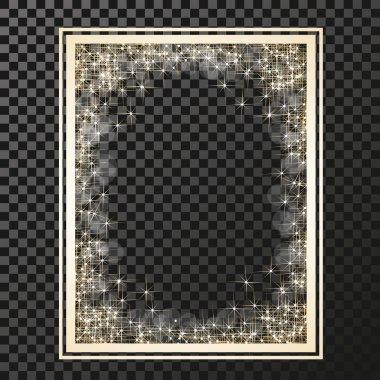 frame with golden stars