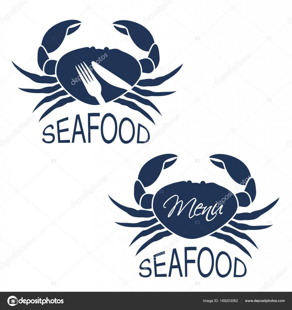 Crabe Avec Un Couteau vector silhouette crabe avec symbole menu couteau fourchette