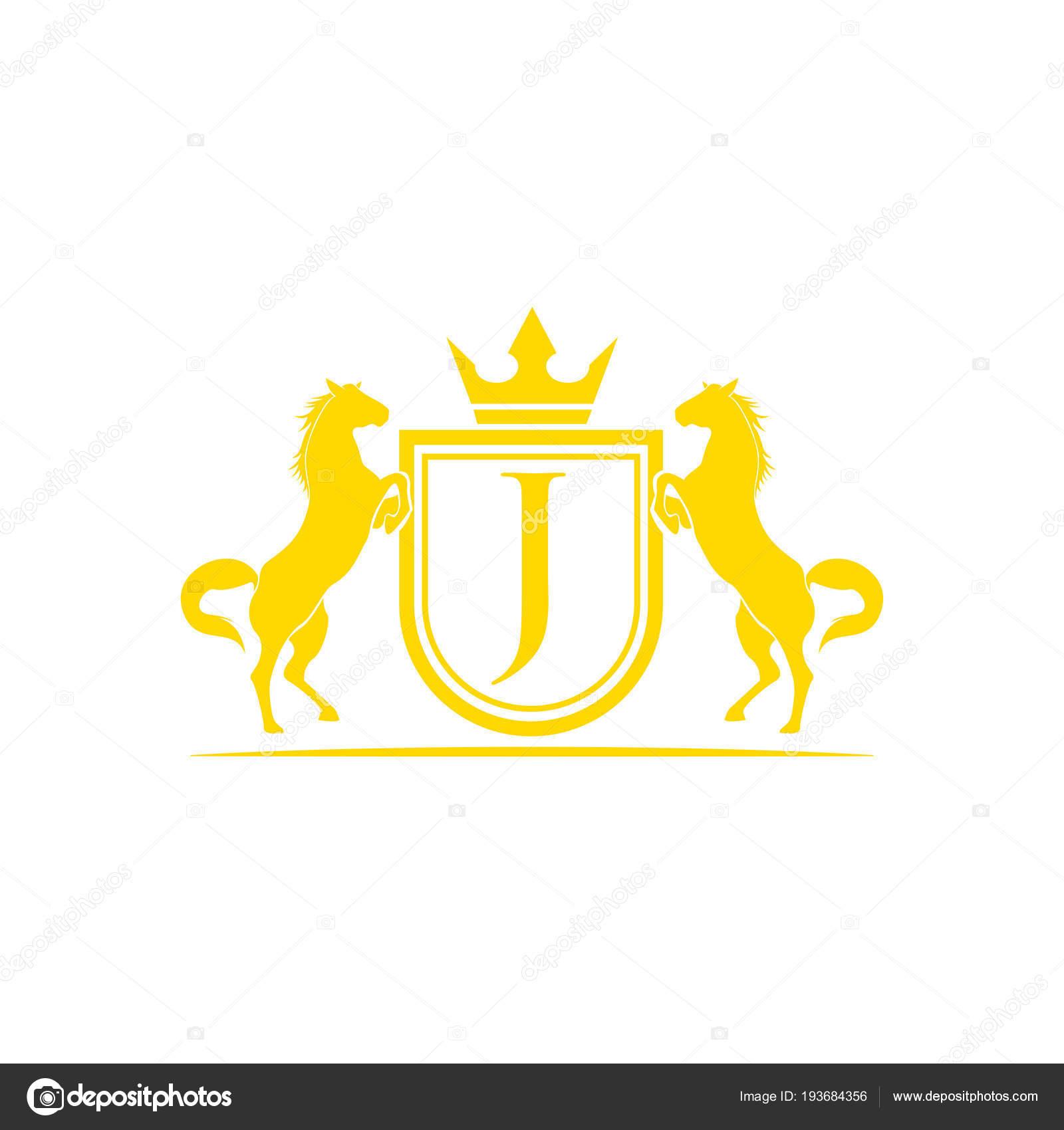 Ranch Brand Logos Initial Letter Logo Horse Brand Logo Design Vector Retro Golden Stock Vector C Alfianiqbal 193684356