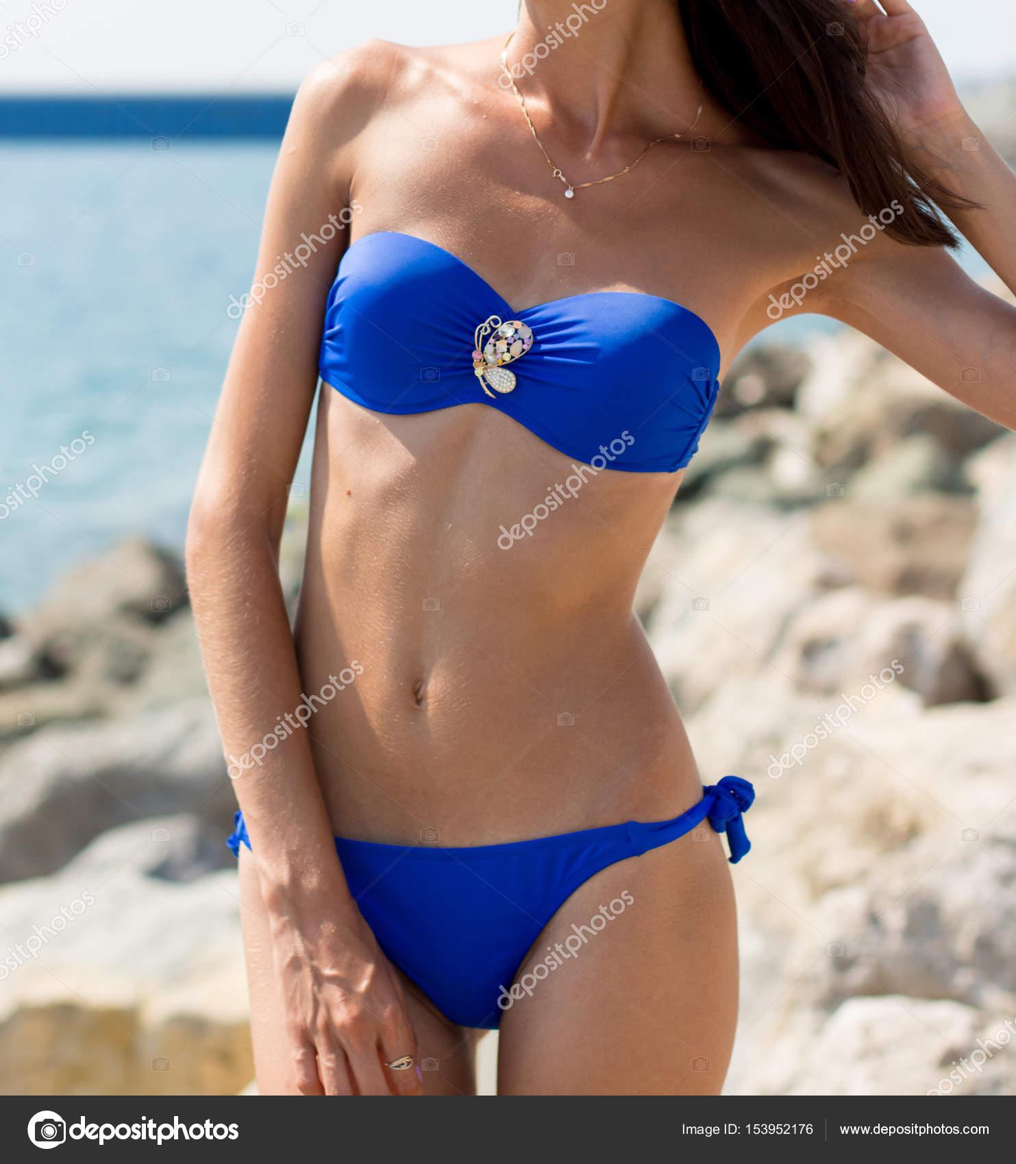 azul bikini Chica del