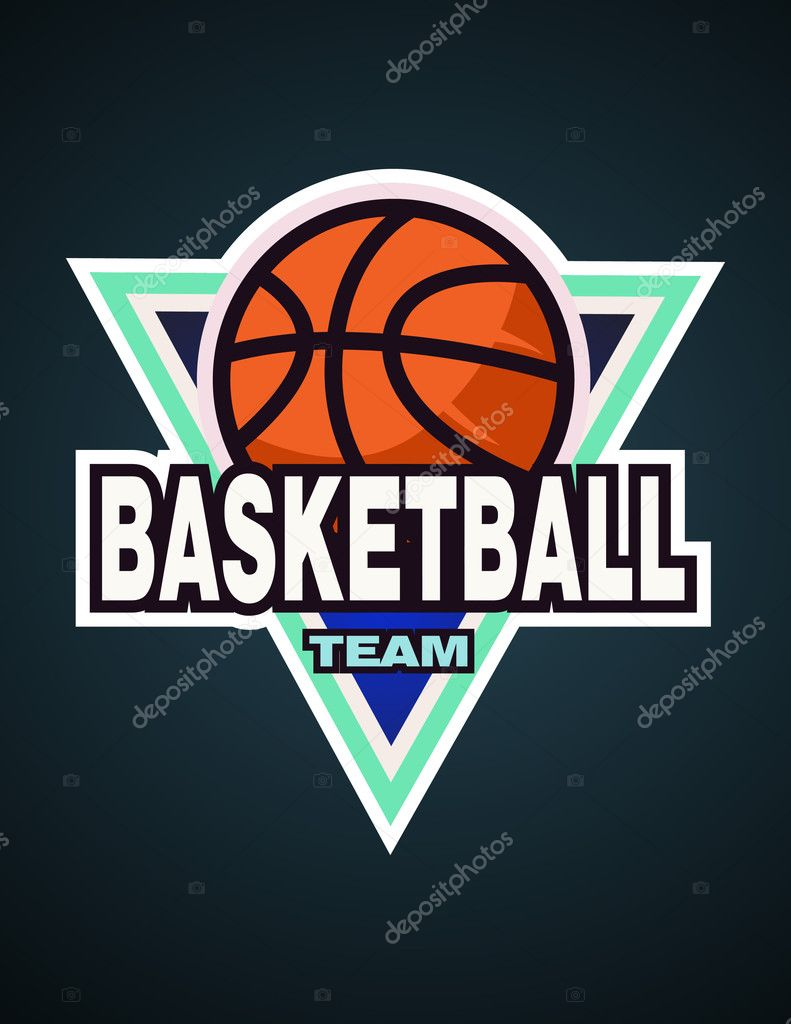 basketball logo template basketball team label basketball logotype badge logo design template. Black Bedroom Furniture Sets. Home Design Ideas
