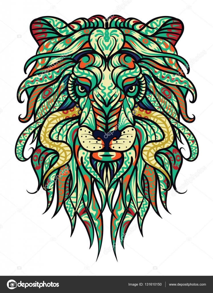 Conception De Tatouage De Lion Vector Illustration Abstraite Signe
