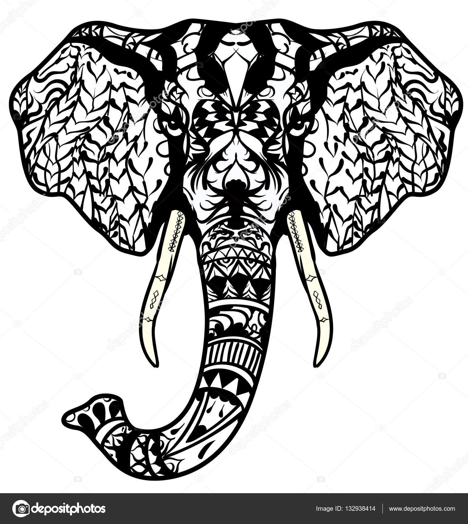 Elephant Head Coloring Page - Coloring Pages Ideas & Reviews