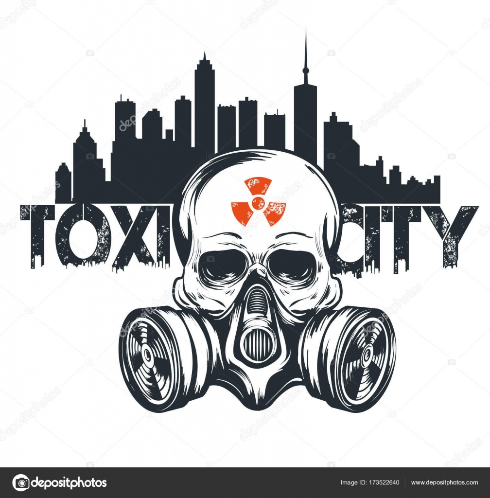 Toxic Mask Logo Skull In Gas Mask Illustration Toxicity Emblem Radiation Sign Can Be Used As T Shirt Print Tattoo Design Logo Urban Style Stock Vector C Kisa Murisa 173522640
