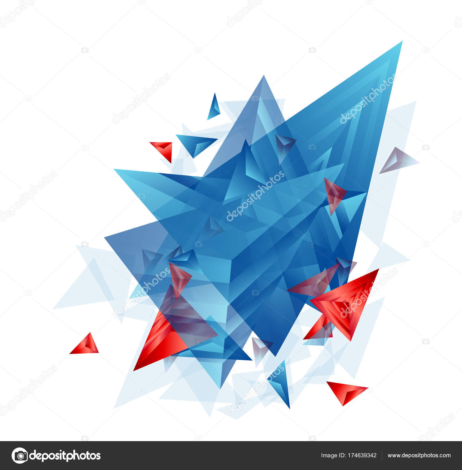 Modern Abstract Cover Background Cool Triangle Shapes