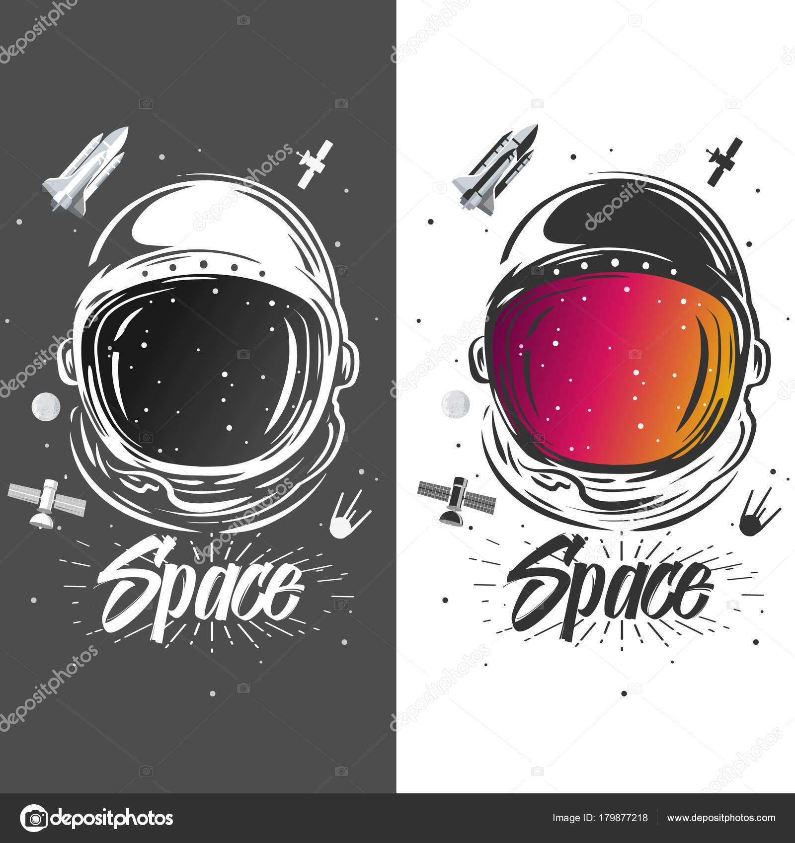 Astronaut suit art space illustration symbol space travel symbol of space travel scientific research astronaut t shirt design spaceman exploring new planets vector by kisarisa biocorpaavc Images
