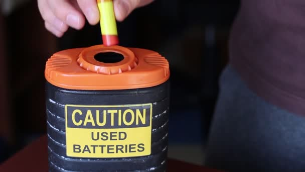 A Recycle Bin for used Batteries. Battery Recycling and Collection