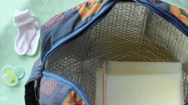 Izolované čerpadla chladnější případ, cestovní tašku. Mateřské mléko úložné pytle s uzávěrem na zip