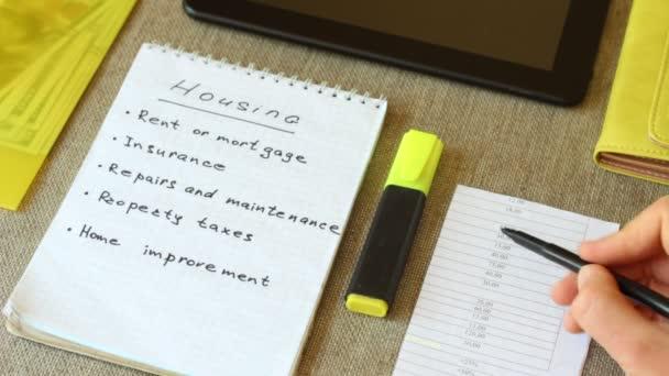 Výdaje na bydlení (nájem, hypotéka, pojištění, daně z nemovitosti, oprava). Domů Návod k obsluze rozpočtování. Hodnocení financí a stále výdaje pod kontrolou