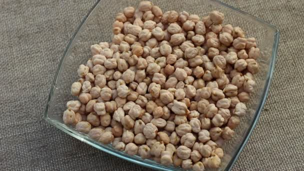 White chickpeas. Soaking chickpeas before cooking