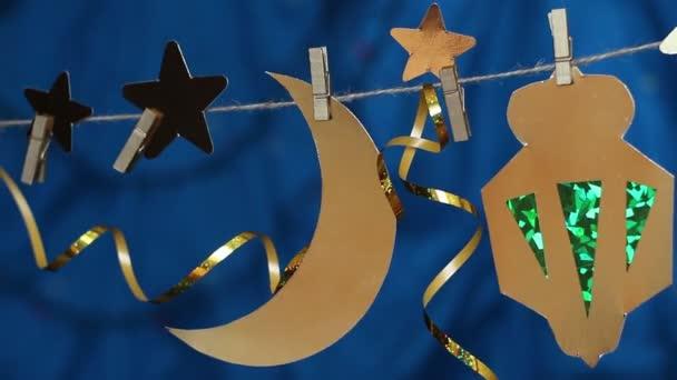 Ramadan Hold és a csillagok dekorációk. DIY Béla dekoráció