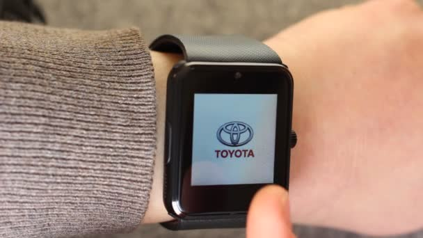 Using A Smart Watch Device. Popular Car Brands and Car Logos. Volkswagen, Volvo, Skoda, Subaru, Toyota, Renault, Rolls-Royce, Peugeot