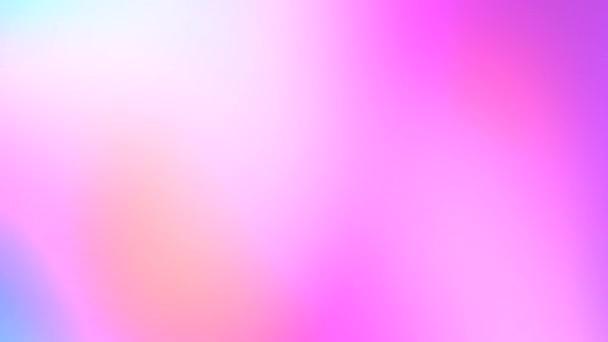 Růžová fialová modrá neon pastel rozmazat duhové barvy gradient pozadí. Mrak kouře. Světelná show. Hypnotický pohyb